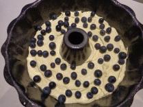 Sprinkled blueberries