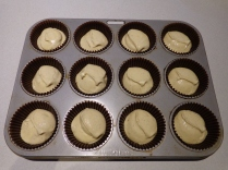 Lets get baking! Cupcakes ready for the oven!