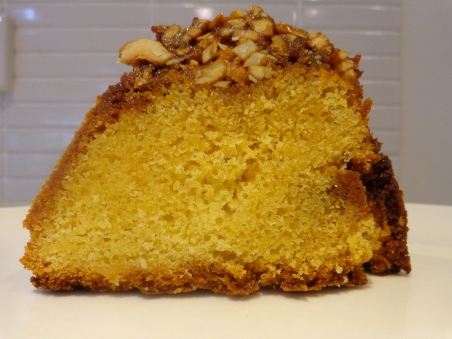 Gorgeous cake with a wonderful crown of salted caramel and nuts