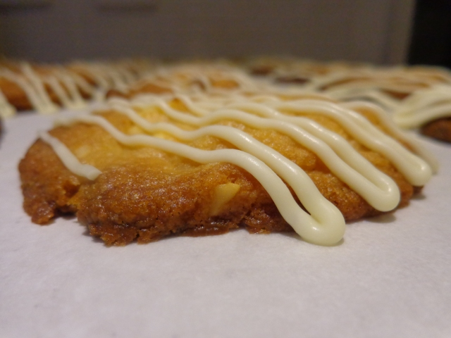 The white chocolate drizzle is optional but doesn't it make the cookies look divine